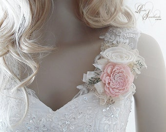 Blush Pink Sola Flower Corsage, Can be worn as a Wrist Corsage or Pin On Corsage.