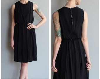 1950s Dress // Little Black Dress // vintage 50s dress