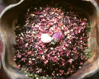 Tasty and Good for you Hibiscus, Mint, Ginger and Rose ~Sweetheart Tea