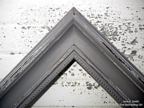 Gray 11x14 Picture Frame Rustic 2 Thick Moulding