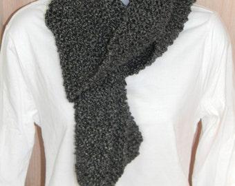 Knitted Scarves-Edwardian, Black