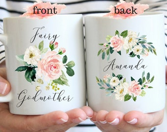 Custom Godmother Gift Mug Fairy Godmother Godparents Gifts God Mom Promoted To Godmother Coffee Mugs Pregnancy Announcement Baby Reveal
