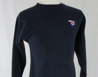 Vintage 90's Pepsi navy crew neck size Medium by Soffe made in USA