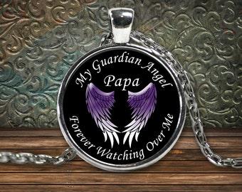 Loss Of Papa, Guardian Angel Gifts, Papa Guardian Angel, Memorial Papa, Sympathy Gift, Loss Gift, Condolence Gift, Papa In Heaven, Loss Gift