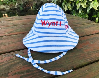 Infant Sun Hat - Newborn Sun Hat - Personalized Baby Sun Hat - Toddler Sun Hat - Bucket Hat - Mongrammed Sun Hat