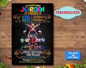 Power Ranger Invitation / Power Ranger Birthday / Power Ranger Party / Power Rangers Invitations / Power Rangers Printable Invitations