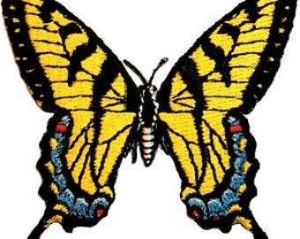 BUTTERFLIES SWALLOWTAIL BUTTERFLY, Officially Licensed, Iron-On / Sew-On, Embroidered Patch