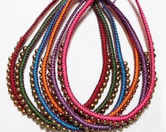 Single Massai macrame necklace