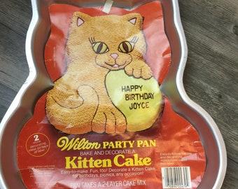 Vintage Wilton Kitten Cake Party Cake Pan