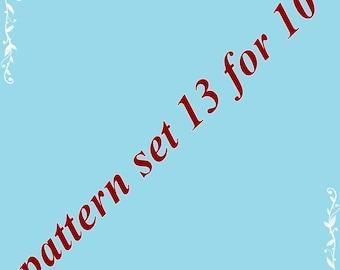 Amigurumi pattern set 13 for 10