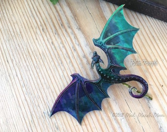 Dragon Hair Pin, Various Colours, iridescent shimmering acrylic and acetate, handmade hair accessory single hair grip