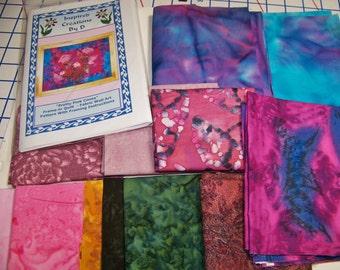 Pretty Pink Cones Art Quilt Pattern Kit