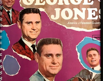 for the George Jones - The Race Is On  / 60s Classic Country  fan Album Cover Notebook /rare Vinyl!