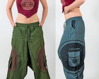 Harem pants, mens festival trousers, baggy hippy pants, yoga pants unisex, afghan trousers hippie pants, dance pants, comfortable cotton MC2