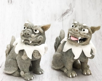Shisa Dog, Shisa Lion, Shisa Sculpture , Shisa Lion Dog, Shisa, Foo Dog Statue, Foo Dog Pair, Fu Dog Statue, Fu Dog, Fu Dog Art Gift for Him