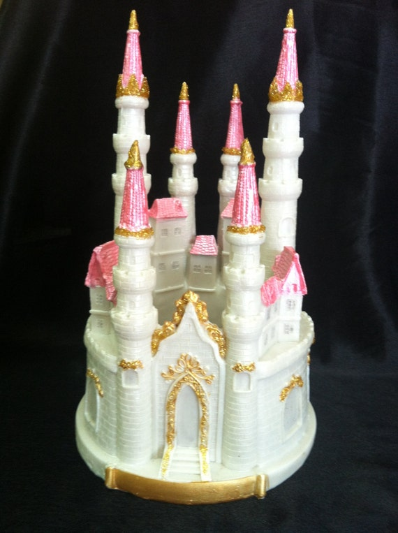 blue castle for cake princess birthday party pink castle