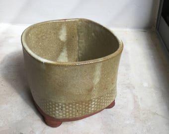 Ceramic Vase,  Flower Vase, Handmade Ceramic Utensil Holder, Utensil Jar, Kitchen Utensil Storage, Pottery Kitchen Crock. Ceramic Planter.