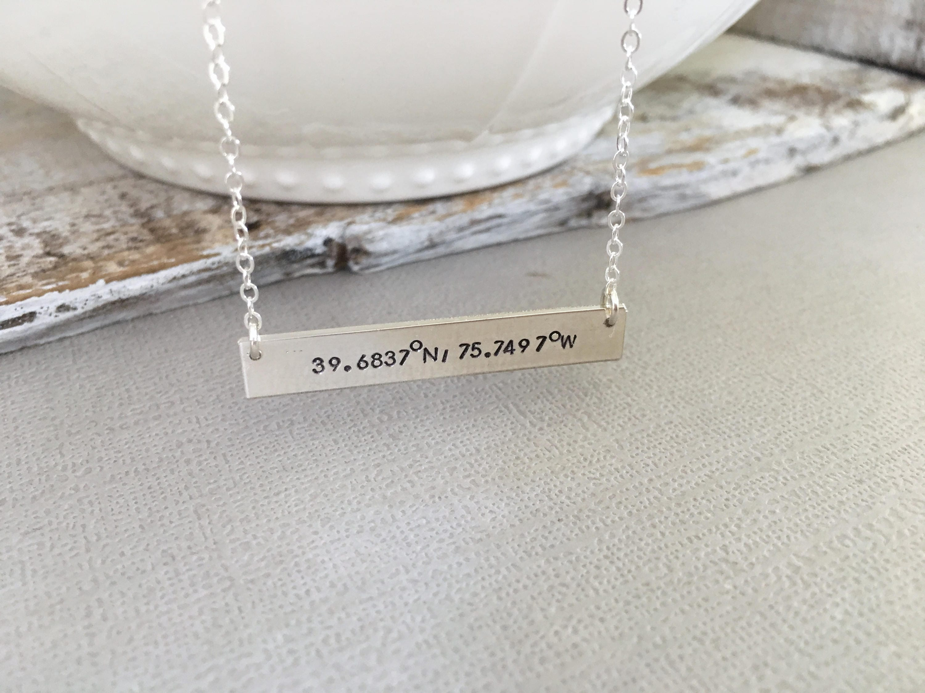 necklaces numine gold necklace monogram coordinate il stamped name jewelry characters c silver handmade fullxfull