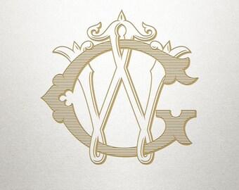 Custom Monogram Design - GW WG - Custom Monogram - Vintage