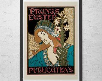 Beautiful Antique ART NOUVEAU POSTER Reproduction High Quality Giclee Print Belle Epoque Poster Print Art Nouveau Print