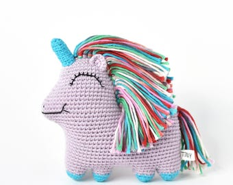 Ready-to-Ship Purple Uni Queen Crochet Doll | Unicorn Doll, Unicorn Crochet, Unicorn Amigurumi