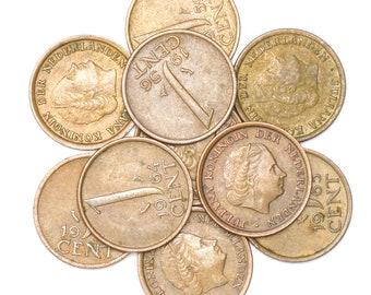 Lot 10 Netherlands Coins: 1 Cent - 5 Gluden Dutch Pre-Euro Coins 1950-2001
