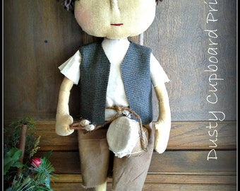 Lil' Drummer Boy ~Prim Doll~ Christmas Winter sewing  Epattern