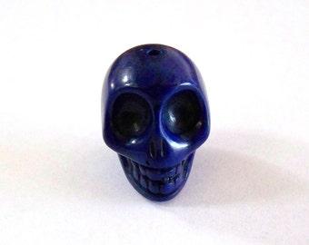 Skull Large Cobalt Blue Stone