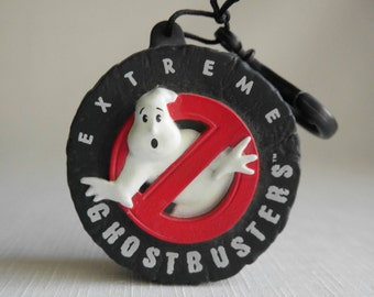 Vintage Extreme Ghostbusters Plastic Clip On Coin Holder, Applause 1997 Backback Clip On, 3D No Ghost, Stocking Stuffer