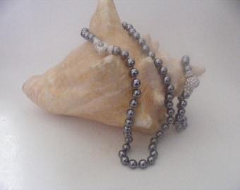 Vintage Nolan Miller Imitation Pearl Necklace Bracelet Set - Buyers Choice