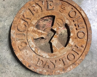 Antique Gas Station Tank Inlet Cover
