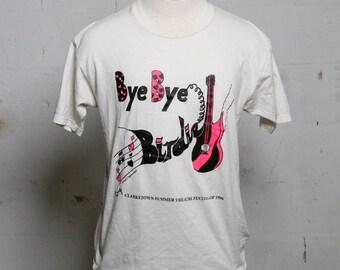 Vintage 90's Bye Bye Birdie T Shirt Clarkstown Summer Theatre Soft! L