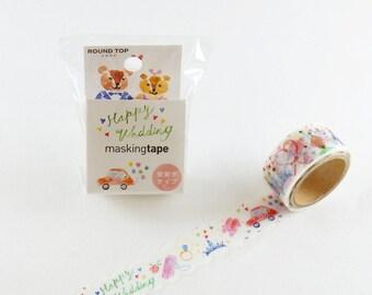 Happy Wedding Washi Tape, Washi Tape, Masking Tape, Japanese Washi Tape