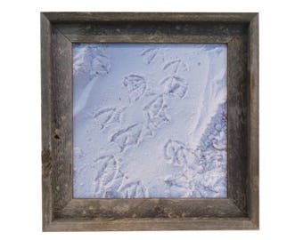 Magnetic Board - Memo Board - Dry Erase Memo Board - Magnet Board - Framed Bulletin Board - Sandy Footprints Beach Design - magnets included