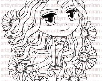 Delightful Daisy(#197) Digital Stamp - Digi Stamp