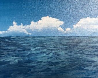 Clouds Over Water Painting