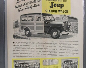 IJ   #122  Jeep Wagon   .  Magazine Ad - Sept.  1946