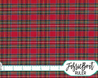 HOMESPUN ROYAL STEWART Tartan Fabric by the Yard Fat Quarter Red & Green Plaid Fabric Quilting Fabric Apparel Fabric 100% Cotton Fabric w6-1