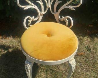 Vintage Kessler Industries Cast Iron Boudoir Chair, Vanity-Make Up Chair