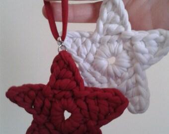 Pendants for garnish, lot of 2 units. Several models. Handmade (crochet)