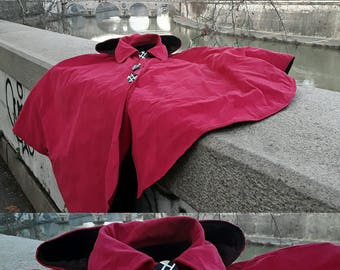 Quilted Cloak with hood