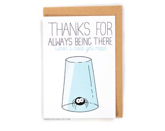 Valentines day card - Valentines card - Anniversary card - Birthday thanks for being there boyfriend card for him funny love card I love you