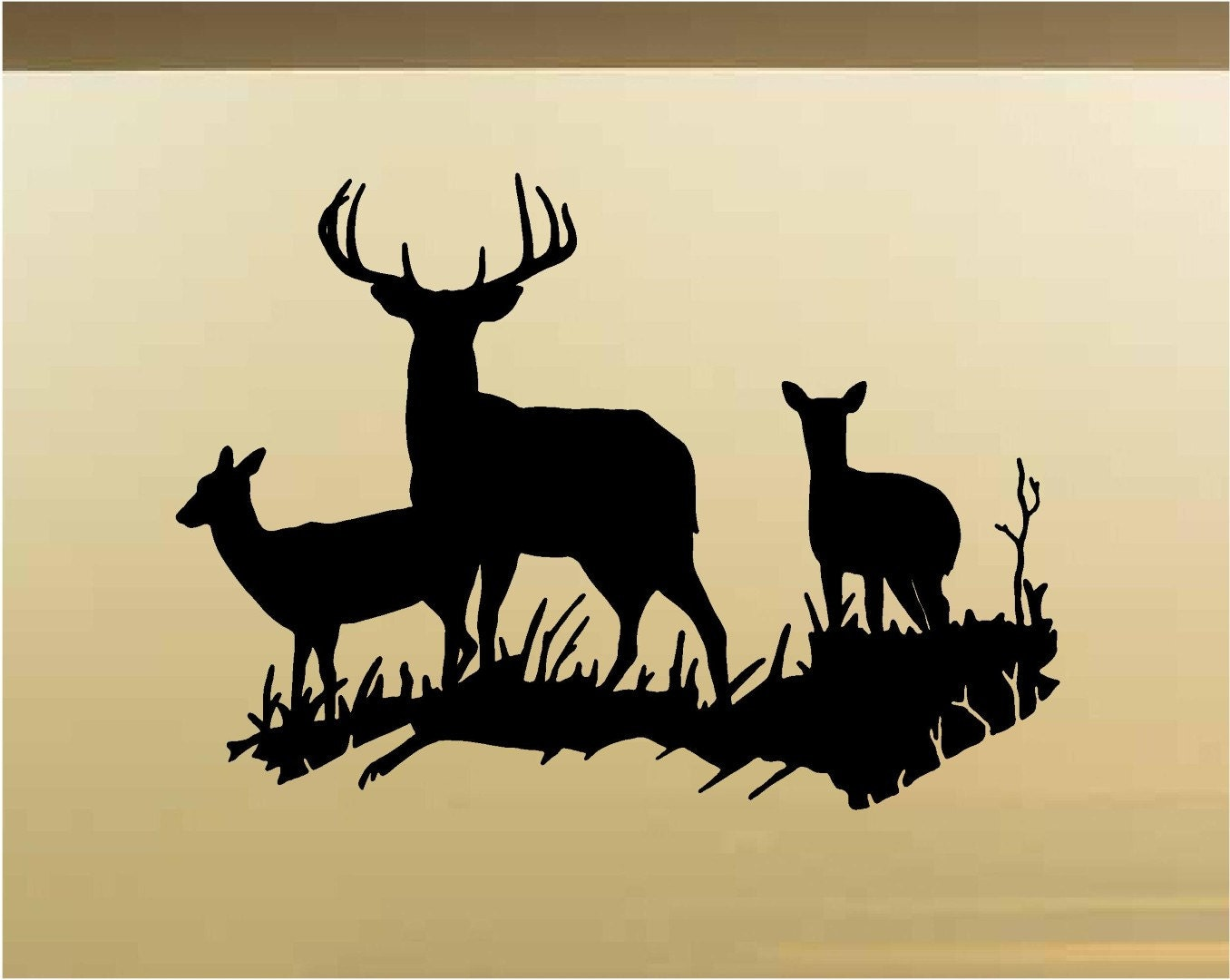 Deer Buck Family Hunting Wall Decals Vinyl Stickers Animal