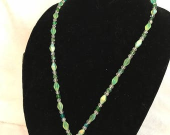 My Illusion (Beads and glass) necklace