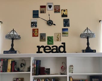Read Sign - Wooden Word Read - Read Wood Cut Out - Library Sign