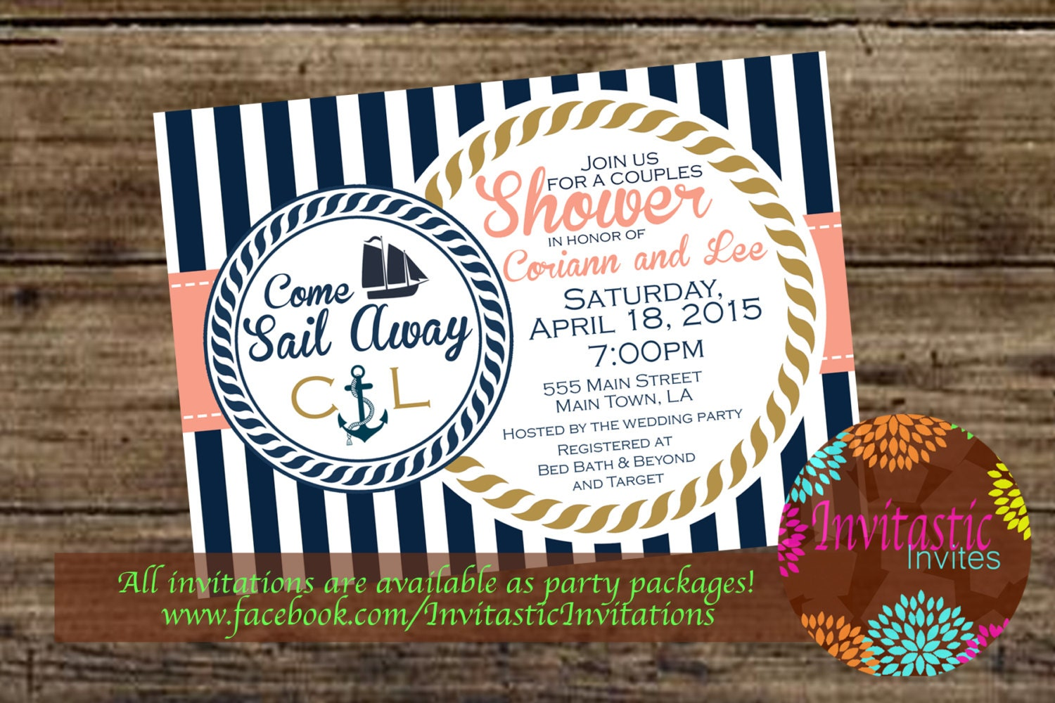 Nautical Couples shower/ Engagement Party :Nautical Beach