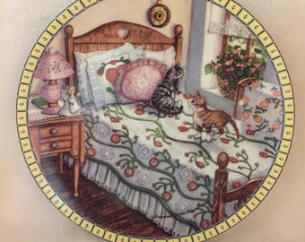 Knowles Cozy Country Corners Collector Kitty Plate - 'A Sunny Spot (#179)