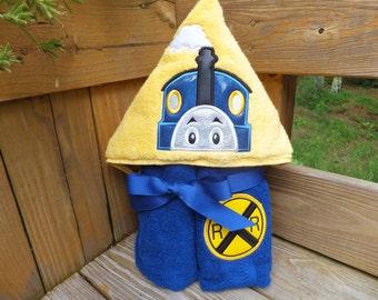 Talking Train Hooded Towel