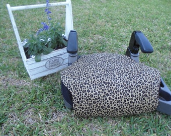 Cheetah  print  toddler booster seat cover--booster seat not included
