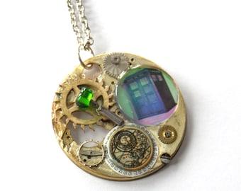 """Doctor Who Necklace """"A Portal Through Time"""""""